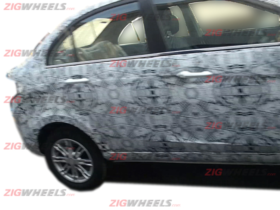 Tata Manza CS spied for the first time