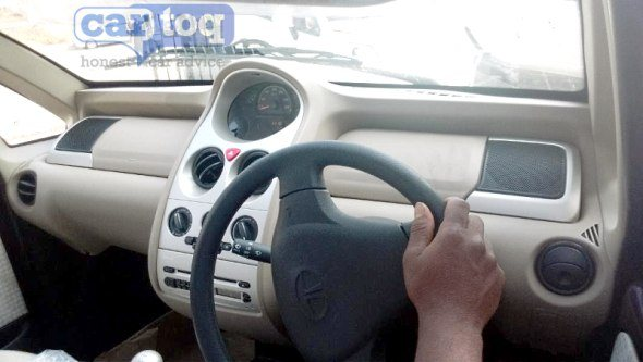 Tata Nano Twist spotted Interiors