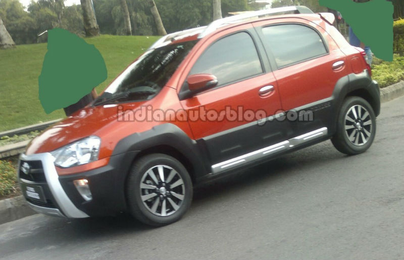 Toyota Etios Cross Spotted in India