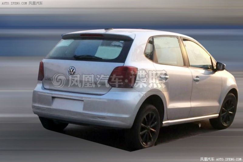 Volkswagen Polo Facelift Spied Testing Back View