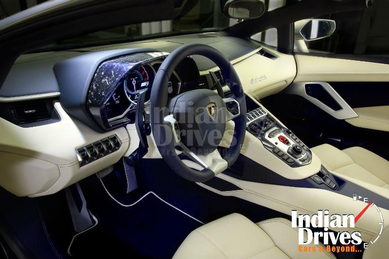 Aventador Roadster Ad Personam interiors