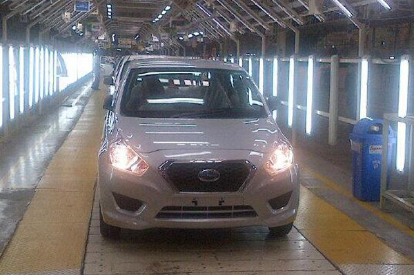 Datsun GO enters production as Renault prepares it for launch in India