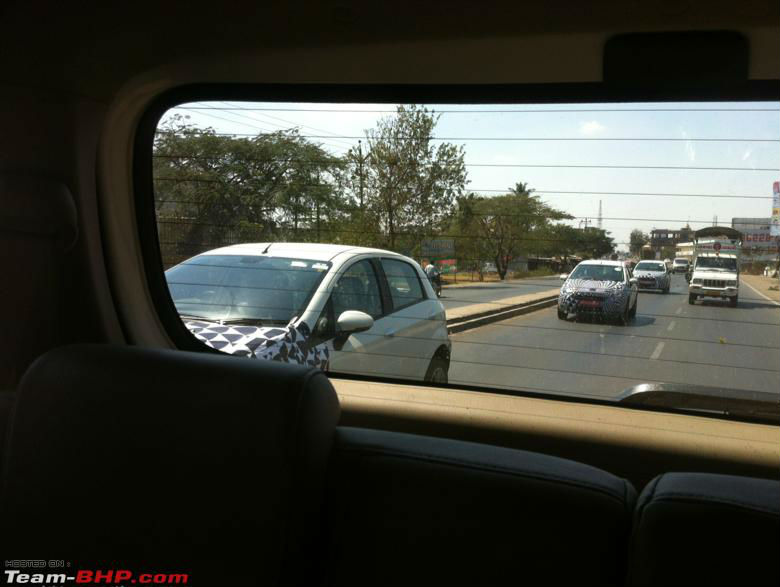 Fiat Punto Facelift Spotted Testing in India