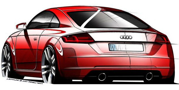 Geneva 2014 New Audi TT Back View