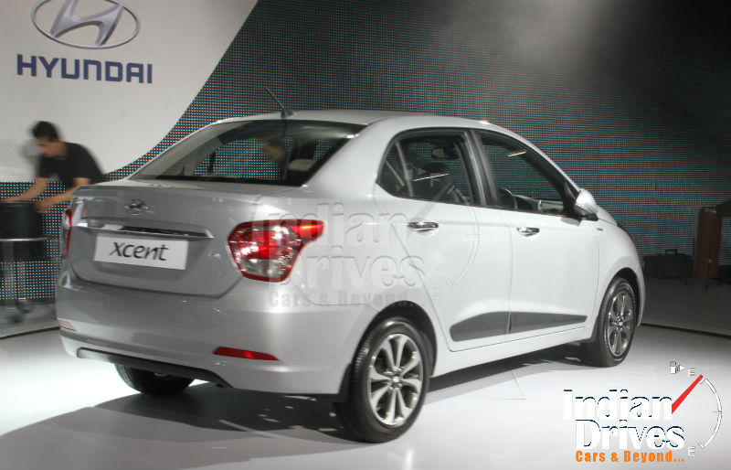 Hyundai Xcent Unveiled Back View