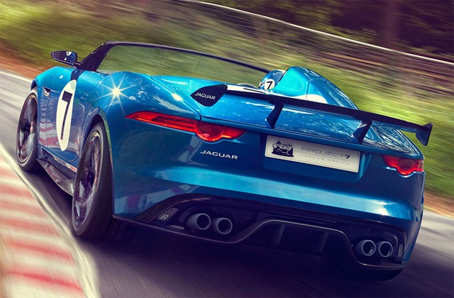 Jaguar Project 7 car Back View