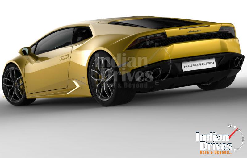 Lamborghini Huracan Back View