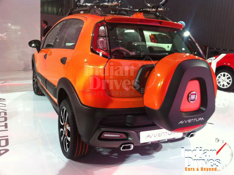 New fiat Avventura Back View