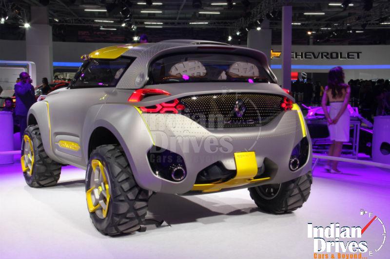 Renault Kwid concept Back View