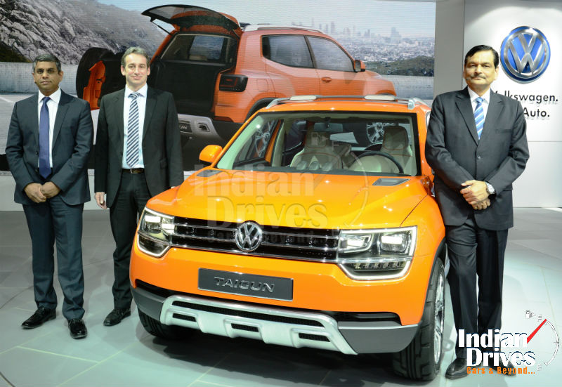 Volkswagen unveils new SUV Concept, Taigun, and showcases WRC winning Polo R at Auto Expo 2014