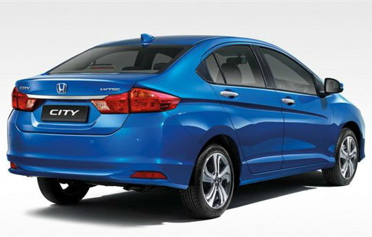 2014 Honda City Back View