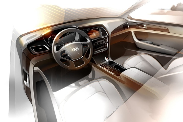 2015 Hyundai Sonata Teased interiors