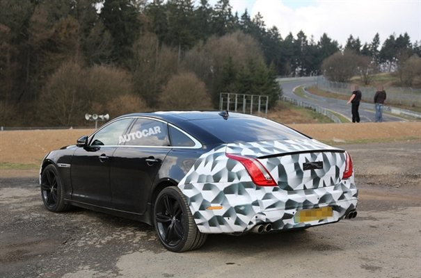 Jaguar XJR Spied Back View