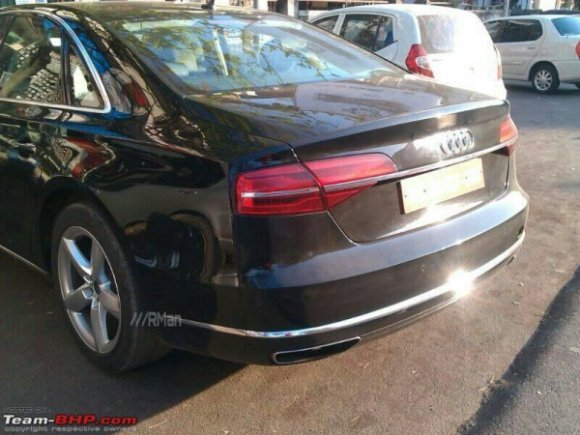 New 2014 Audi A8L Back View