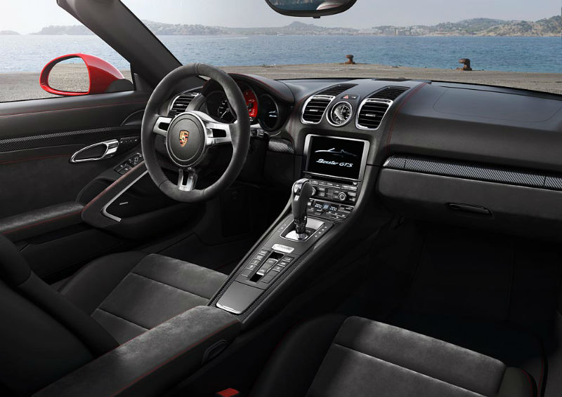 Porsche Boxster GTS and Cayman GTS interiors