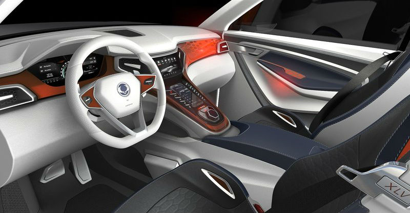 SsangYong XLV Concept Revealed Interiors