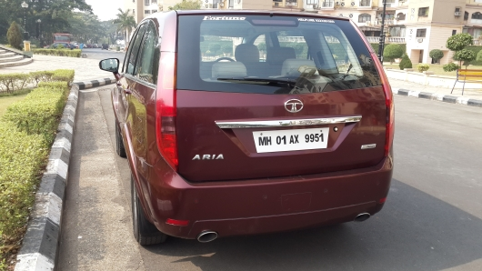 Used Tata Aria Back View