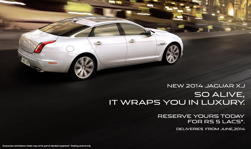 2014 Jaguar XJ Bookings Commenced in India