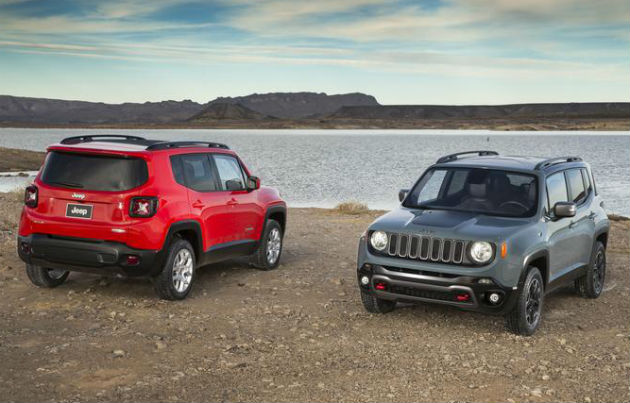 2015 Jeep Renegade back view