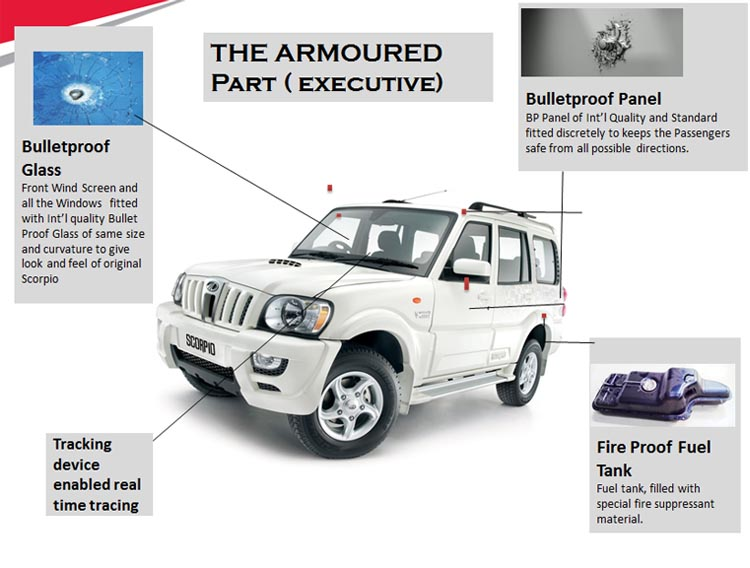 Bulletproof Mahindra Scorpio Available in India for Rs 12.66 lakh