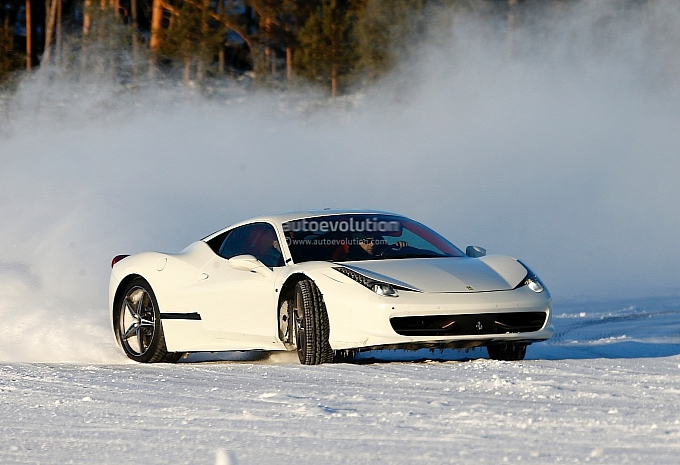 Ferrari 458 Replacement Spotted Drifting on Ice