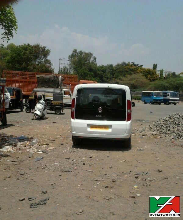 Fiat Doblo Spy Pic India Back View