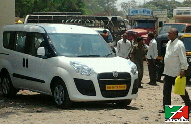 Fiat Doblo Spy Pic India
