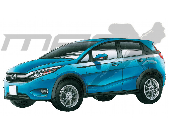 Honda Brio-based Compact SUV for India Rendered