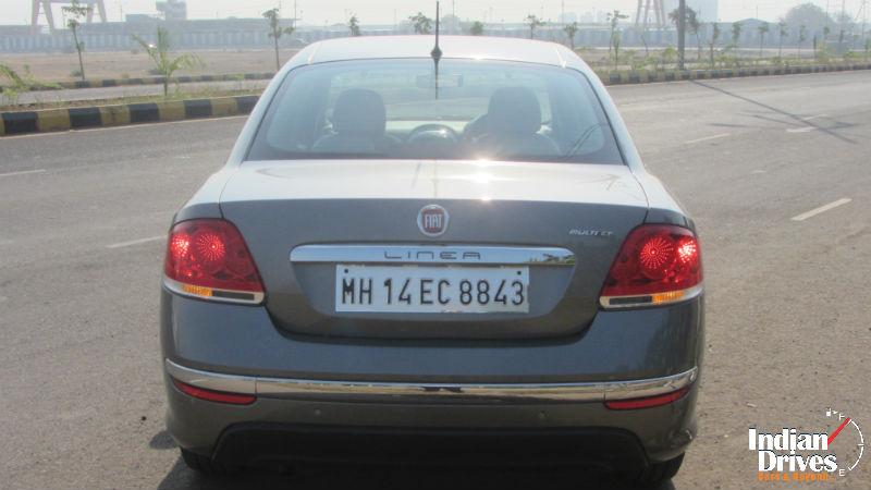 2014 Fiat Linea Back View