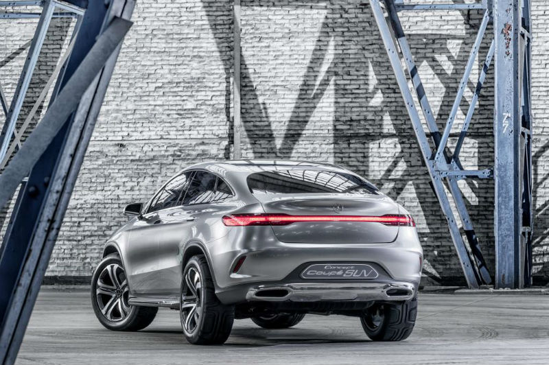 Mercedes Benz Concept Coupe SUV Back View