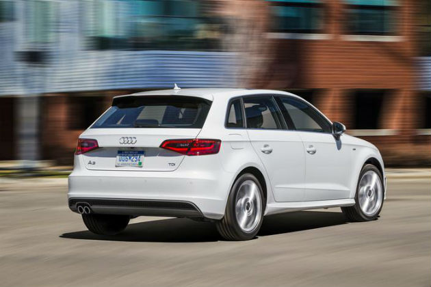 New Audi A3 TDI Sportback back view