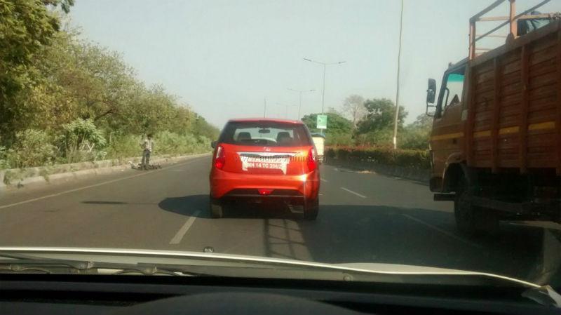 Red Tata Bolt rear spyshot
