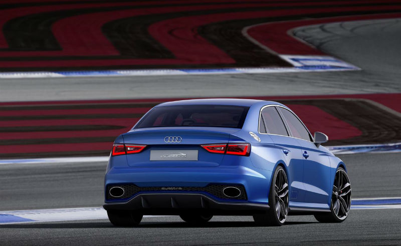 Audi A3 Clubsport Quattro back view