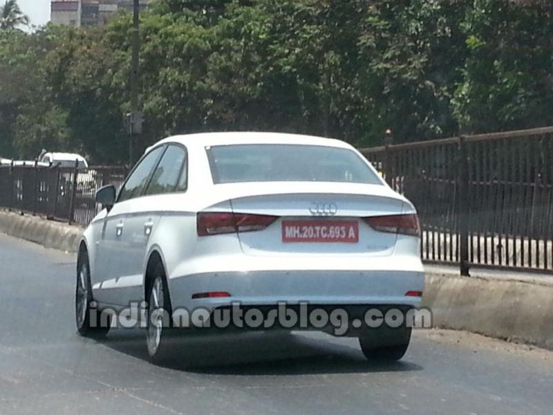 Audi A3 sedan spyshot rear three quarters