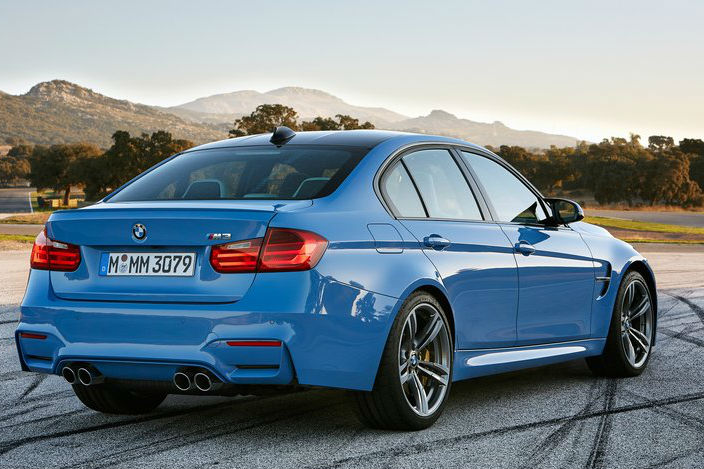 BMW M3 Completes Back View