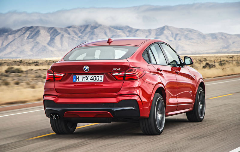 BMW X4 Back View