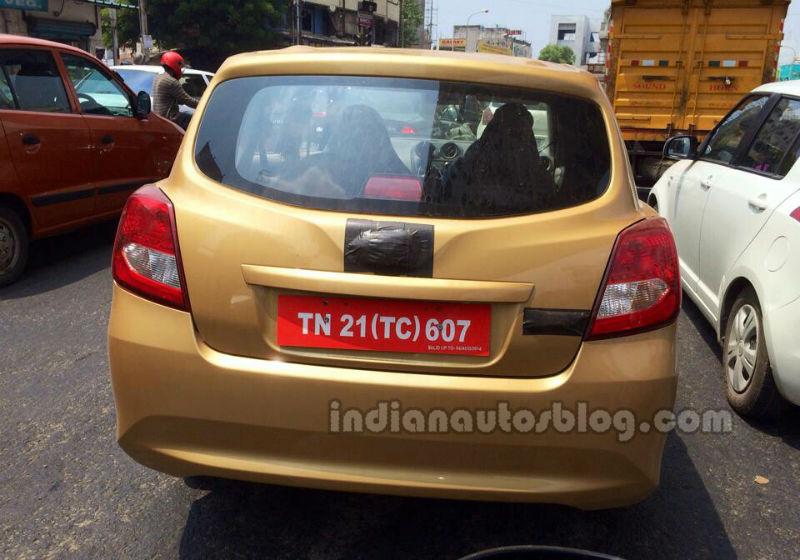 Datsun Go+MPV spied in India rear