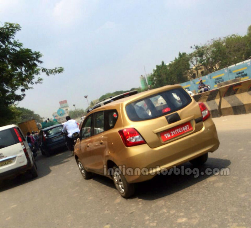 Datsun Go Plus MPV Spotted in India for First Time