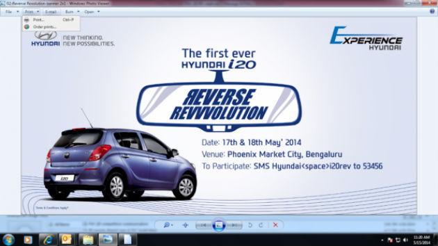 Hyundai organizes iGen i20 - Reverse Revolution