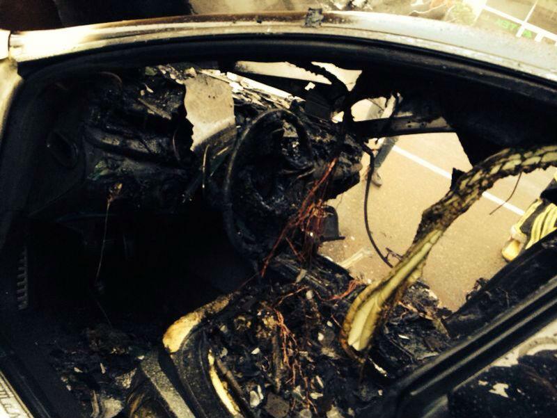 Inside View of burns Maserati Quattroporte