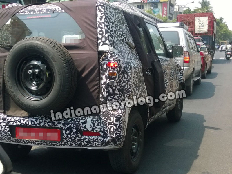 Mahindra Bolero Facelift Back View