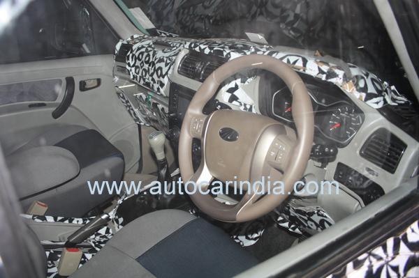 Mahindra Scorpio Facelift Interiors Spied