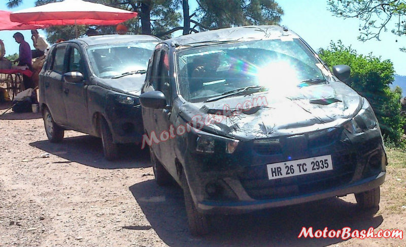 Maruti Alto 800 Facelift Spied Testing in India