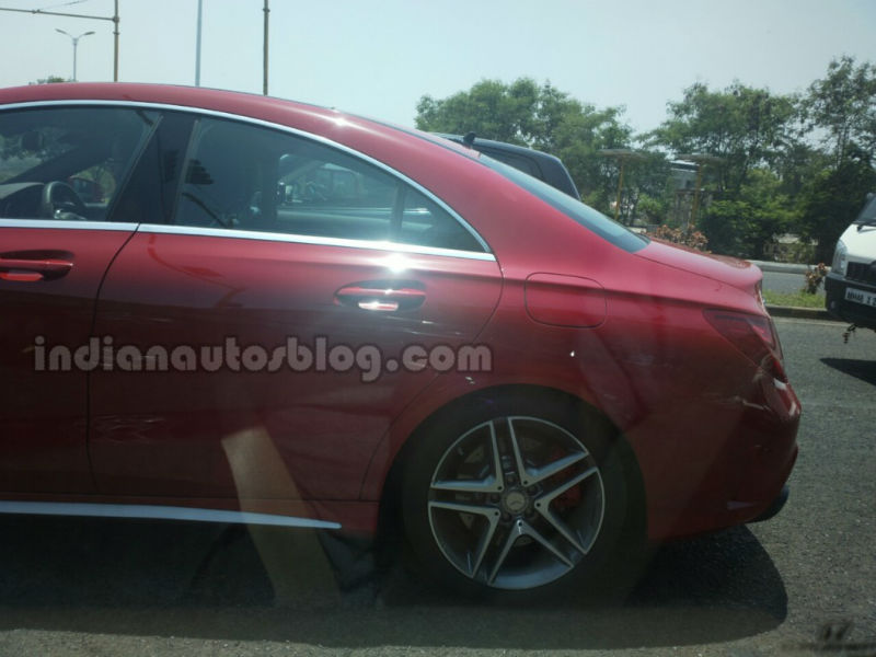 Mercedes-Benz CLA 45 Spied in India Rear