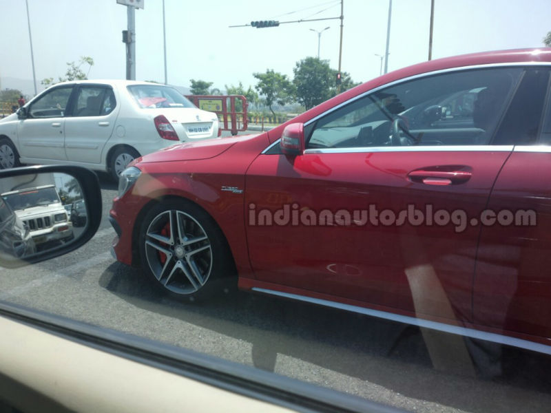 Mercedes-Benz CLA 45 Spied in India