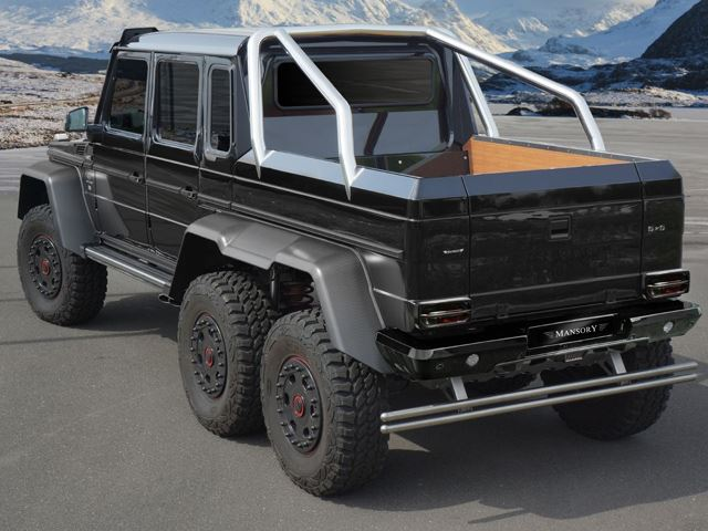 Mercedes-Benz G63 6x6 Tuned by Mansory Revealed Back View