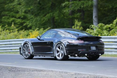 Porsche 911 Facelift Back View
