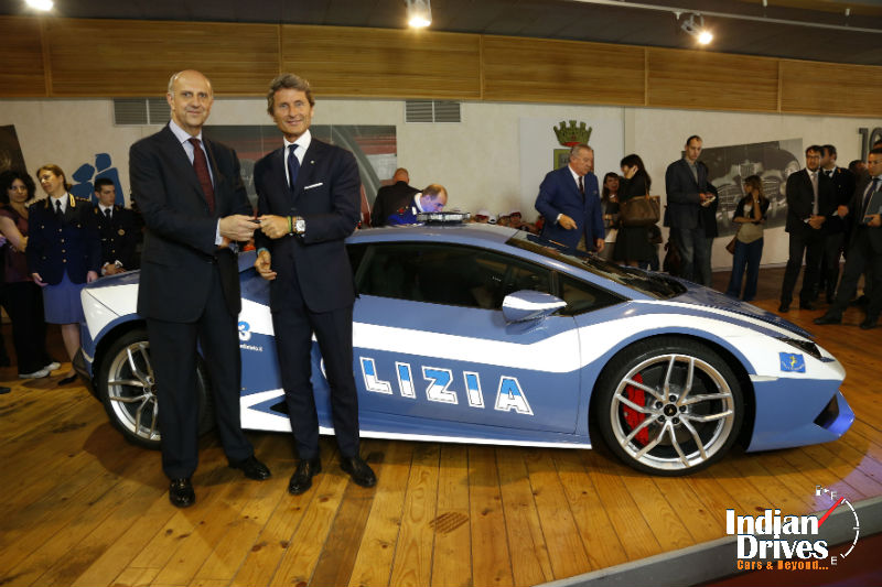 Lamborghini hands over the new Huracan LP 610-4 Polizia to the Italian State Police