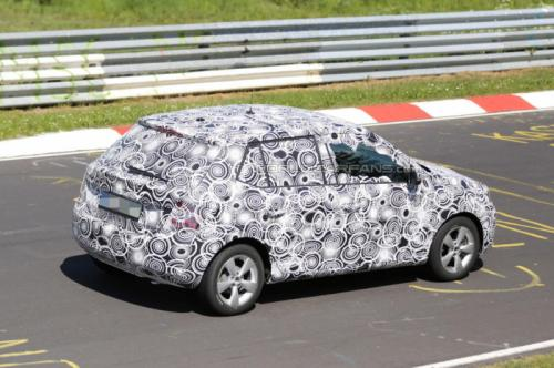 Skoda Fabia Spied During Testing Back View