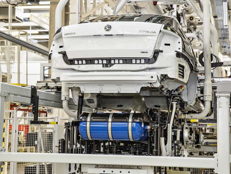 Skoda Octavia G-TEC Rolls Off The Production Line